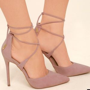 Lulus Dusty Pink Heels